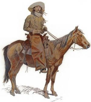 Arizona Cowboy by Frederic Sackrider Remington