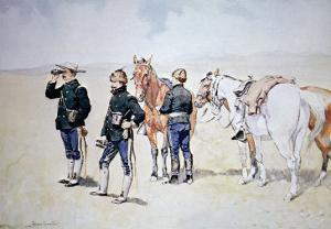 Cavalry Scouts, c.1890 by Frederic Sackrider Remington