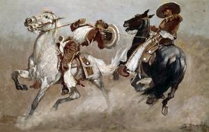 Cowboy Fun in Old Mexico by Frederic Sackrider Remington
