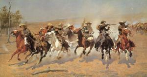 Cowboy Gunbattle by Frederic Sackrider Remington
