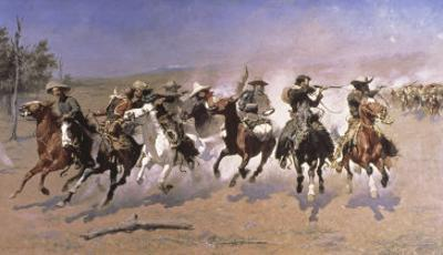 Dash For the Timber by Frederic Sackrider Remington