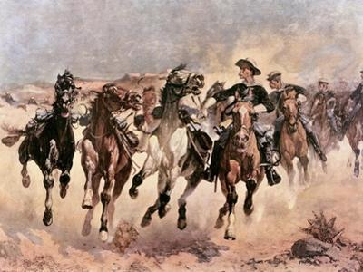 Dismounted: The 4th Troopers Moving by Frederic Sackrider Remington