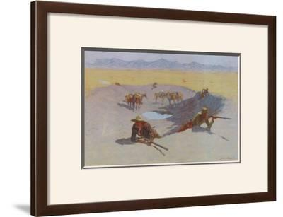 Fight for the Waterhole by Frederic Sackrider Remington