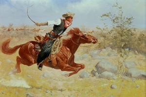 Galloping Horseman, C.1890 by Frederic Sackrider Remington