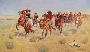 Halt-Dismount by Frederic Sackrider Remington