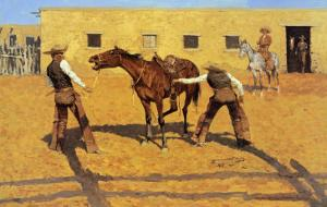 His First Lesson by Frederic Sackrider Remington