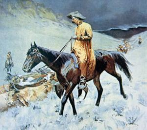 On the Trail by Frederic Sackrider Remington