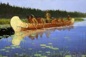 Radisson and Groseilliers by Frederic Sackrider Remington