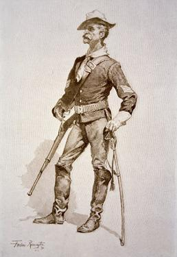 Sergeant of US Cavalry, After a Drawing of 1890 by Frederic Sackrider Remington