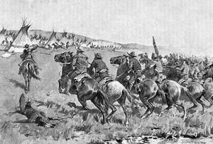 Texas Rangers Attack by Frederic Sackrider Remington