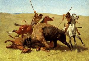 The Buffalo Hunt by Frederic Sackrider Remington