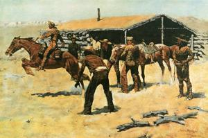 The Coming and Going of the Pony Express by Frederic Sackrider Remington