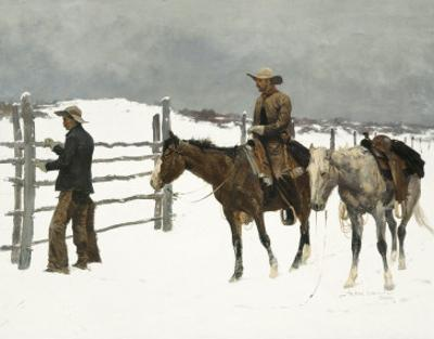 The Fall of The Cowboy by Frederic Sackrider Remington