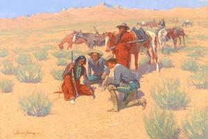 The Map in the Sand, 1905 by Frederic Sackrider Remington