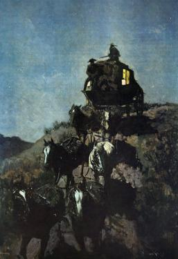 The Old Stage Coach of The Plains by Frederic Sackrider Remington