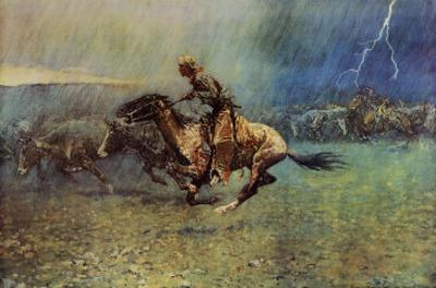 The Stampede by Frederic Sackrider Remington