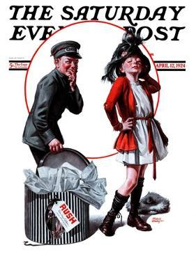 """Playing Dress-Up,"" Saturday Evening Post Cover, April 12, 1924 by Frederic Stanley"