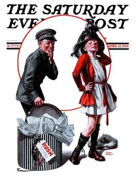 """""""Playing Dress-Up,"""" Saturday Evening Post Cover, April 12, 1924 by Frederic Stanley"""