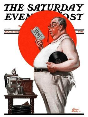 """""""Reduce to Music,"""" Saturday Evening Post Cover, August 2, 1924 by Frederic Stanley"""