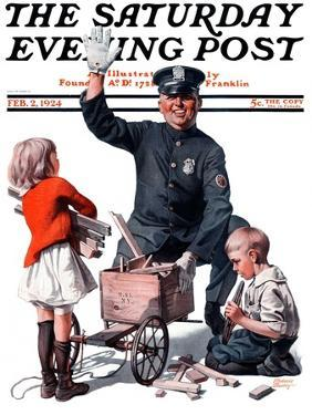 """""""Soapbox Wreck,"""" Saturday Evening Post Cover, February 2, 1924 by Frederic Stanley"""