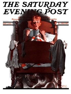 """What's That Noise?,"" Saturday Evening Post Cover, November 7, 1925 by Frederic Stanley"