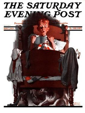 """""""What's That Noise?,"""" Saturday Evening Post Cover, November 7, 1925 by Frederic Stanley"""