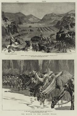 The March to the Gakdul Wells by Frederic Villiers