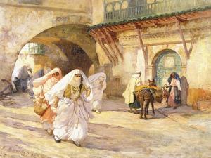 Arab Women in a Street by Frederick Arthur Bridgman