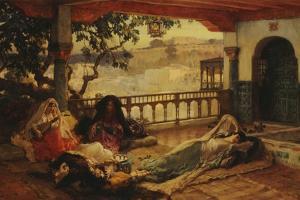 Evening over Algiers, C.1880-1889 by Frederick Arthur Bridgman