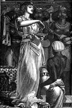Cleopatra VII (69-30 B), Queen of Egypt, Dissolving Pearls in Wine, 1866 by Frederick Augustus Sandys