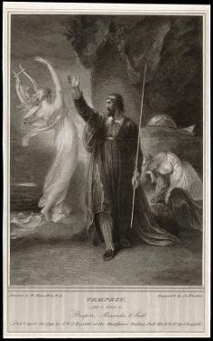 The Tempest, Act I, Scene II: Whilst Miranda Sleeps Prospero Confers with Ariel by Frederick Burr Opper
