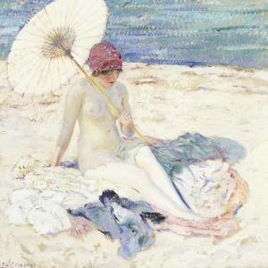 On the Beach, 1913 by Frederick Carl Frieseke