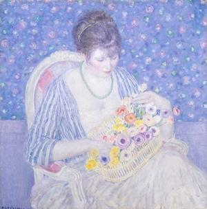 The Basket of Flowers, 1913-17 by Frederick Carl Frieseke