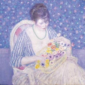 The Basket Of Flowers, c.1913-1917 by Frederick Carl Frieseke