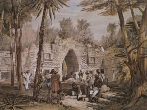 Arch of Labna, Yucatan, Mexico, Illustration from 'Views of Ancient Monuments in Central America' by Frederick Catherwood