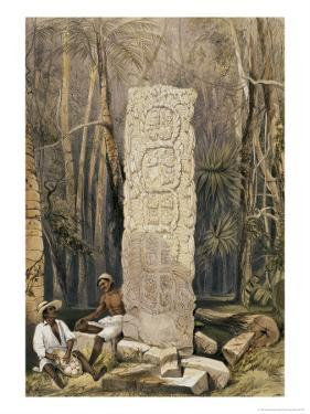 Back of an Idol, Copan by Frederick Catherwood
