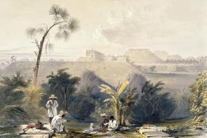 General View of Uxmal, Taken from the Archway of Las Monjas, Looking South, from 'Views of… by Frederick Catherwood