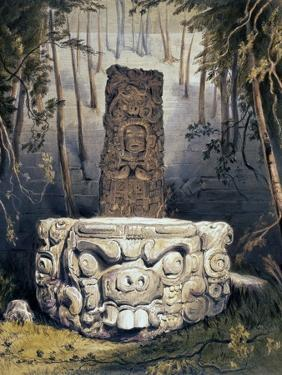 Idol and Altar at Copan by Frederick Catherwood