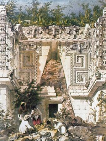 Palace of the Governors, Uxmal, Yucatan, Mexico, 1844