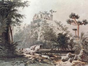 Pyramid of Kukulkan in Chichen Itza by Frederick Catherwood