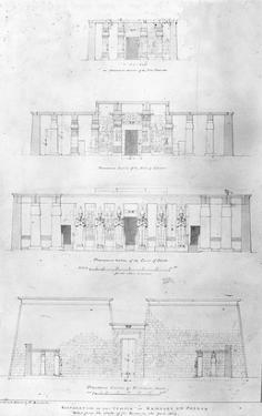 Restoration of the Temple of Ramases II at Thebes, Drawn and Measured by F. Avondale by Frederick Catherwood