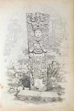 Stela P at Copan, Honduras by Frederick Catherwood