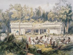 Temple at Tulum by Frederick Catherwood