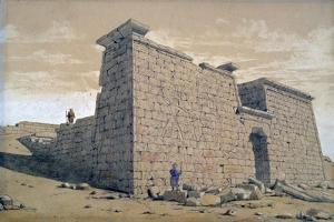 Temple, Nubia, Egypt, 1824 by Frederick Catherwood