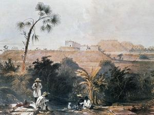 View of Mayan Ceremonial Center of Uxmal, Yucatan, Mexico by Frederick Catherwood