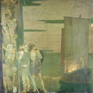 The Landing of St Patrick in Ireland, 1912 by Frederick Cayley Robinson