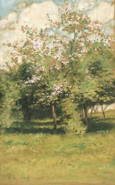 Blossoming Trees, 1882 by Frederick Childe Hassam