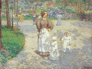 Frühling im Central Park (Spring in Central Park). 1908 by Frederick Childe Hassam
