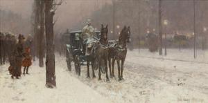 Street Scene with Hansom Cab, 1887 by Frederick Childe Hassam