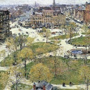 Union Square in Spring, 1896 by Frederick Childe Hassam